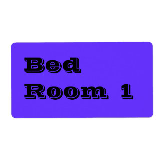 Bed Room 1 Moving Labels in Blue