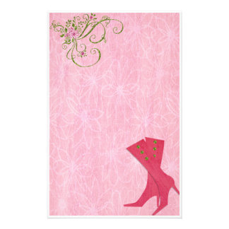 Bedazzled Diva In Watermelon Stationery