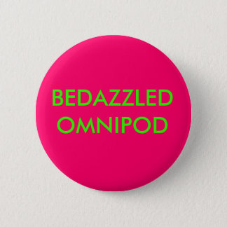 BEDAZZLED OMNIPOD 6 CM ROUND BADGE