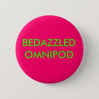 BEDAZZLED OMNIPOD 6 CM ROUND BADGE