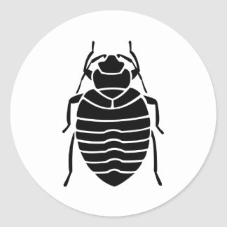Bedbug Insect Print Round Sticker
