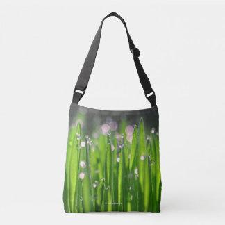 Bedewed Wheatgrass in the Morning Light Crossbody Bag
