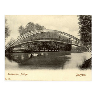 Bedford, Suspension Bridge Postcard