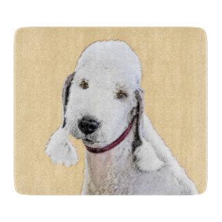 Bedlington Terrier 2 Painting - Original Dog Art Cutting Board