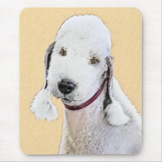 Bedlington Terrier 2 Painting - Original Dog Art Mouse Pad