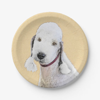 Bedlington Terrier 2 Paper Plate