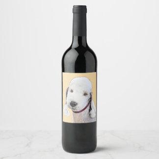 Bedlington Terrier 2 Wine Label