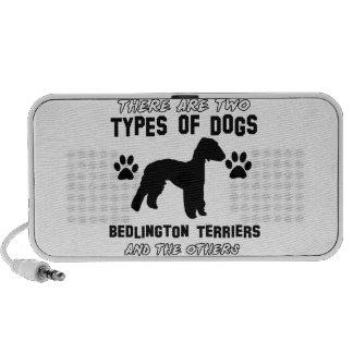 Bedlington Terrier dog designs Laptop Speakers