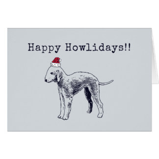 Bedlington Terrier Holiday Card