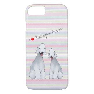 Bedlington Terrier Illustrated Cell Phone Case