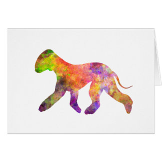 Bedlington Terrier in watercolor 2 Card