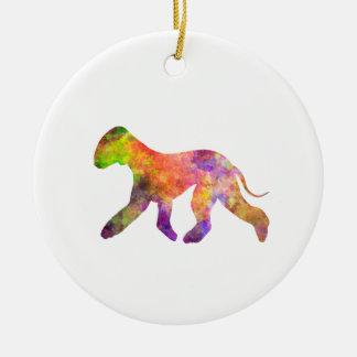 Bedlington Terrier in watercolor 2 Ceramic Ornament