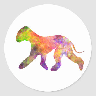 Bedlington Terrier in watercolor 2 Classic Round Sticker