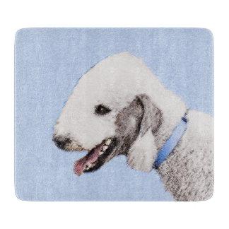 Bedlington Terrier Painting - Original Dog Art Cutting Board
