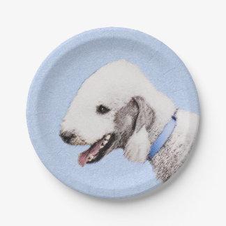 Bedlington Terrier Paper Plate