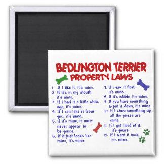 BEDLINGTON TERRIER Property Laws 2 Square Magnet