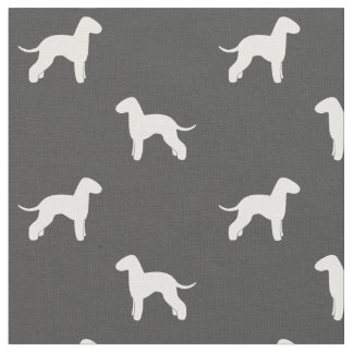 Bedlington Terrier Silhouettes Pattern Fabric