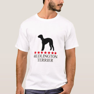Bedlington Terrier T-shirt with Red Stars