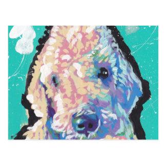 Bedllington Terrier Pop Art Postcard