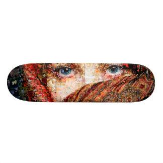 Bedouin woman-bedouin girl-eye collage-eyes-girl 19.7 cm skateboard deck