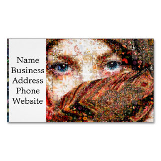 Bedouin woman-bedouin girl-eye collage-eyes-girl Magnetic business card