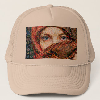 Bedouin woman-bedouin girl-eye collage-eyes-girl trucker hat