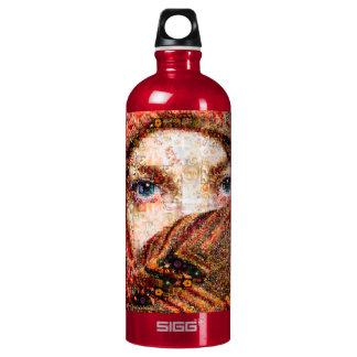 Bedouin woman-bedouin girl-eye collage-eyes-girl water bottle