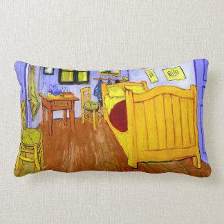 Bedroom in Arles (F482) Van Gogh Fine Art Lumbar Cushion