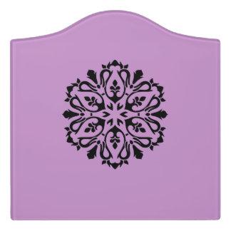 Bedroom sign with Mandala art