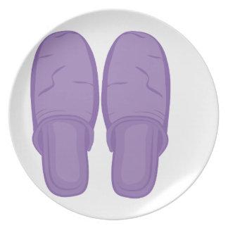 Bedroom Slippers Dinner Plates