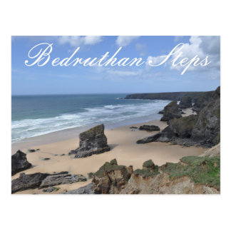 Bedruthan Steps Two Postcard
