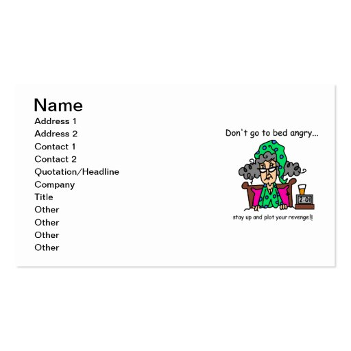 Bedtime Humor Business Card Template
