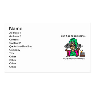 Bedtime Humor Pack Of Standard Business Cards