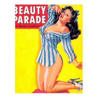 Bedtime Pinup Postcard