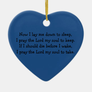 Bedtime Prayer Now I Lay Me Down to Sleep Ceramic Ornament