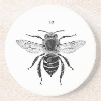 Bee 10 Sandstone Coaster