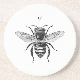 Bee 17 Sandstone Coaster