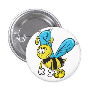 bee 3 cm round badge
