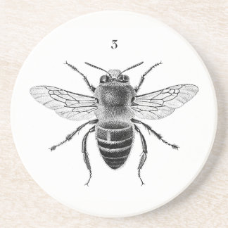 Bee 3 Sandstone Coaster