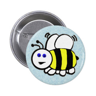 Bee 6 Cm Round Badge