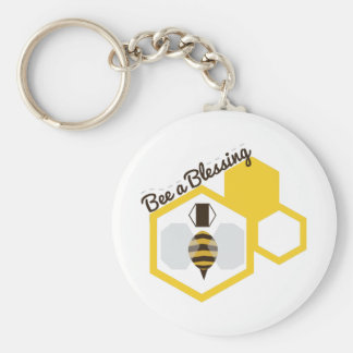 Bee A Blessing Basic Round Button Key Ring