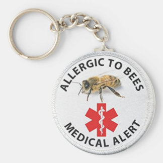 Bee allergies key ring