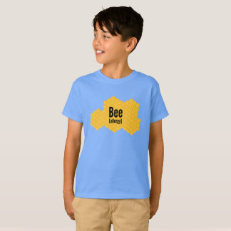 Bee Allergies Tee Shirt with Honeycomb Graphic