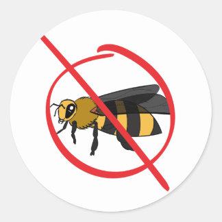 Bee Allergy Classic Round Sticker