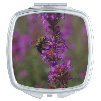 Bee and Blazing Star Compact Mirror