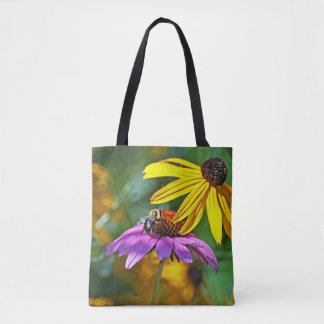 Bee and Blossoms Tote Bag