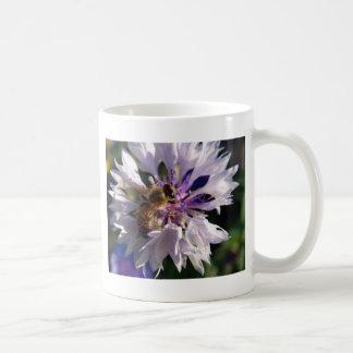 Bee and Blue Flower Coffee Mug