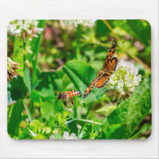 Bee and Butterfly Mouse Pad
