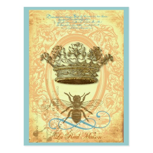 Bee and Crown Post Cards