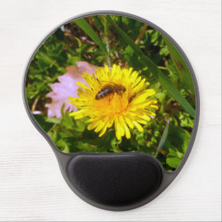 Bee and dandelion gel mouse pad